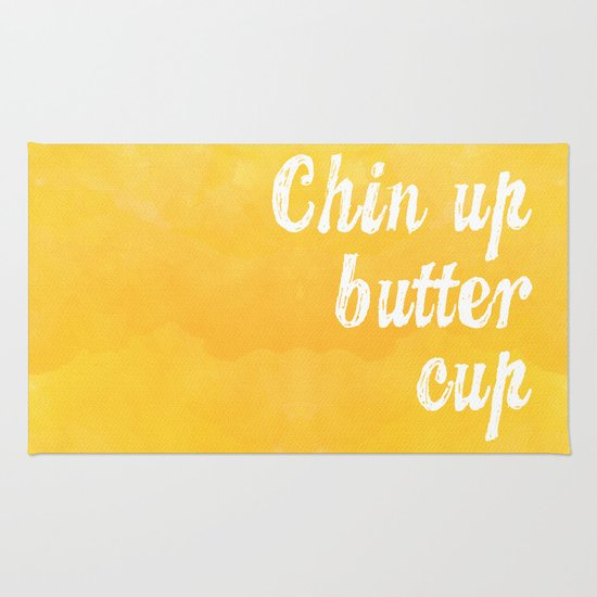 chin up butter cup rug by stacia elizabeth society6. Black Bedroom Furniture Sets. Home Design Ideas