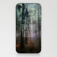 Just Explore Things iPhone & iPod Skin