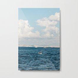 Fishermen - Istanbul, Turkey Metal Print