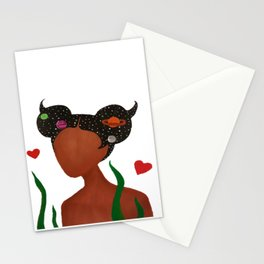 Space Mermaid Stationery Cards