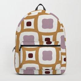 Gothenburg modern geometric dark red and purple pattern Backpack