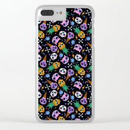 cute skull party Clear iPhone Case