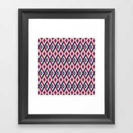 AFE Diamond  Pattern Framed Art Print