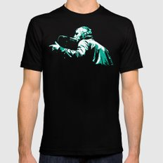 Liam Gallagher Mens Fitted Tee Black SMALL
