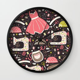 Vintage Sewing Wall Clock