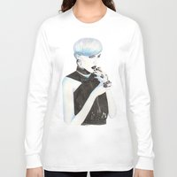 cigarette Long Sleeve T-shirts featuring Cigarette by Alessandra Castagnolo
