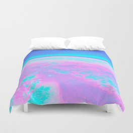 Holographic Planet Duvet Cover