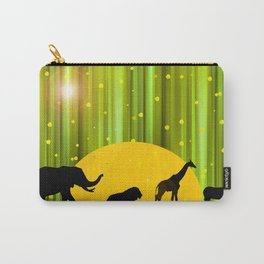 Africa Animals In The Magic Forest Carry-All Pouch