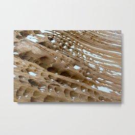 Tafoni Rock Erosion Metal Print