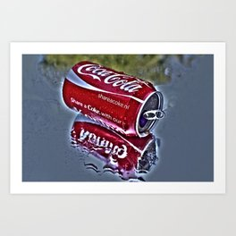 Chilly cola in the hot summer day  Art Print
