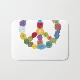 Peace Sign In Colors Bath Mat