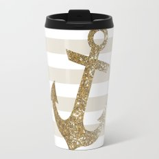 GLITTER ANCHOR IN GOLD Travel Mug
