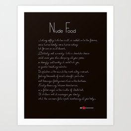 Nude Food Art Print
