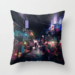 Blues of the Night Throw Pillow