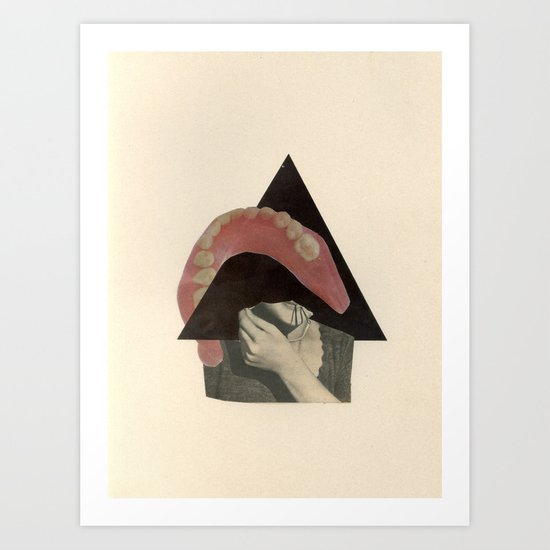 Talking Circles to Empty Faces Art Print
