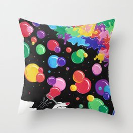 Bubbles colors the World !  Throw Pillow
