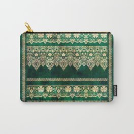 Vintage lace on Green velvet. Carry-All Pouch