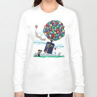 hallion Long Sleeve T-shirts featuring Come Along, Carl by Karen Hallion Illustrations