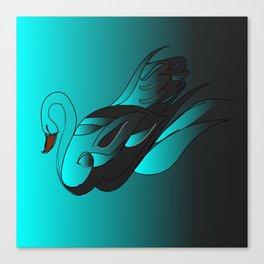 Swan art Canvas Print