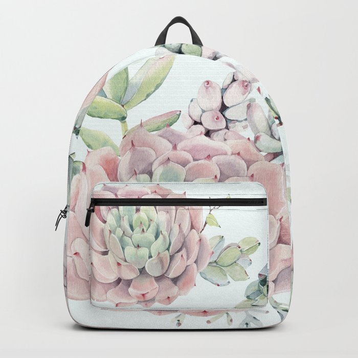 Pink Echeveria #society6 #buyart Backpack