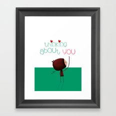 Thinking about You Framed Art Print