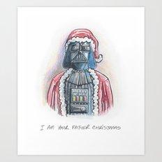 I Am Your Father Christmas Art Print