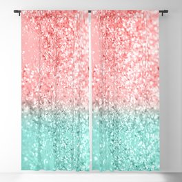 Summer Vibes Glitter #3 #coral #mint #shiny #decor #art #society6 Blackout Curtain