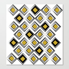 Wibbly Squares Canvas Print