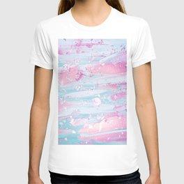 Shine Shimmer Pastel Pink and Blue Modern T-shirt