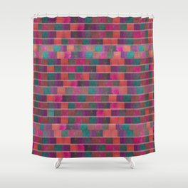 """Full Color Squares Pattern"" Shower Curtain"