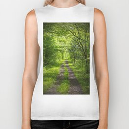 Trail Through Green Woods Biker Tank