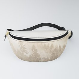 Vintage Sepia Fir Trees Fanny Pack