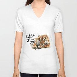 Wild and free Unisex V-Neck