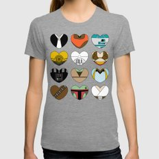 Character Hearts Tri-Grey MEDIUM Womens Fitted Tee