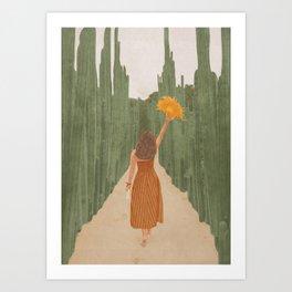 A Way Through the Cactus Field Art Print