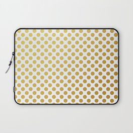 Gold dots on white Laptop Sleeve
