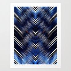 Abstract #Blue #Black #1 #art #society6 Art Print