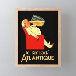 Retro French beer ad Le Bon Bock Framed Mini Art Print