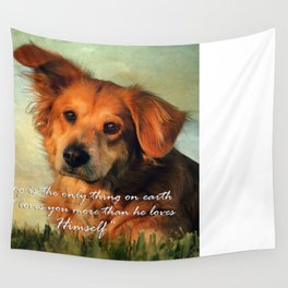A Dogs Love Wall Tapestry