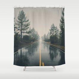 Hiking road explore Shower Curtain