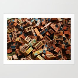 Chinese Bricks Art Print