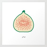 fig Art Prints featuring FIG by Lara Trimming