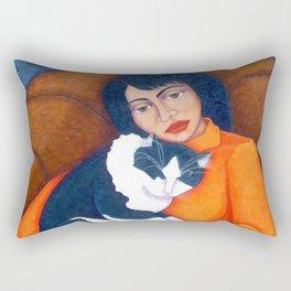 Cat Morgana with Woman Rectangular Pillow