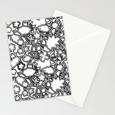 Lila's Flowers Repeat Black and White Stationery Cards