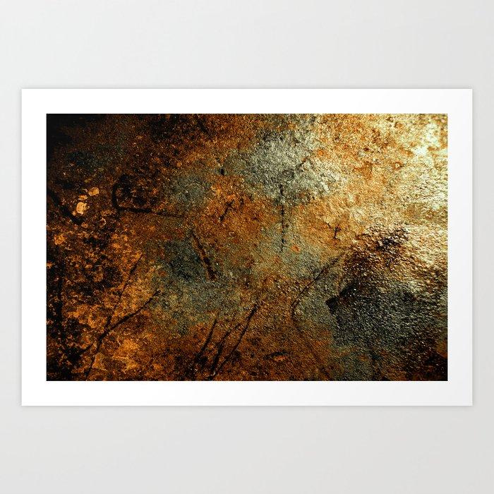 Rust Texture 69 Art Print
