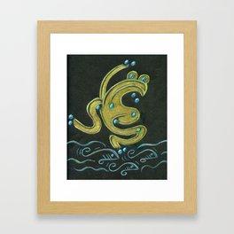 Golden tree frog (Coqui dorado) Framed Art Print