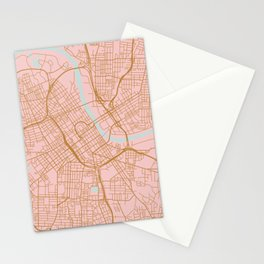 Nashville map, Tennessee Stationery Cards