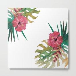 tropical flowers Metal Print