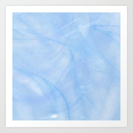 Frozen Marble Background Art Print