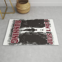 I Can't Stop Running Introverts Gift Rug
